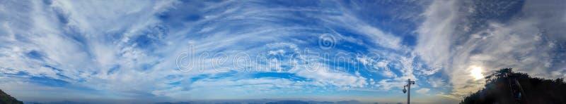 Blauw de hemel panoramisch beeld van Zuid-Korea stock afbeelding