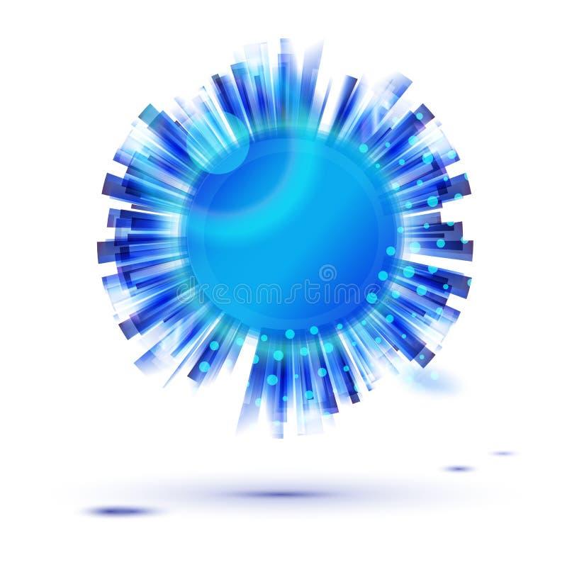 Blauw de vormetiket van de cirkel creatief ster voor bedrijfspresentatie vector illustratie