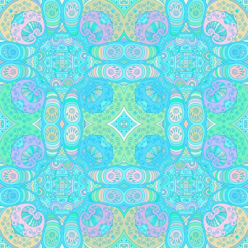 Blauw decoratief naadloos patroon royalty-vrije illustratie