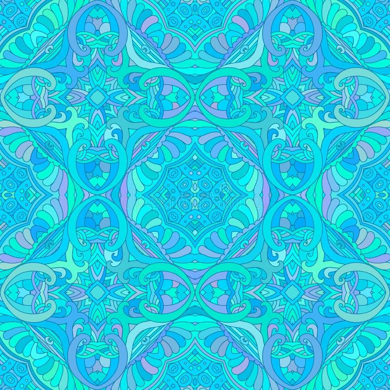 Blauw decoratief naadloos patroon vector illustratie