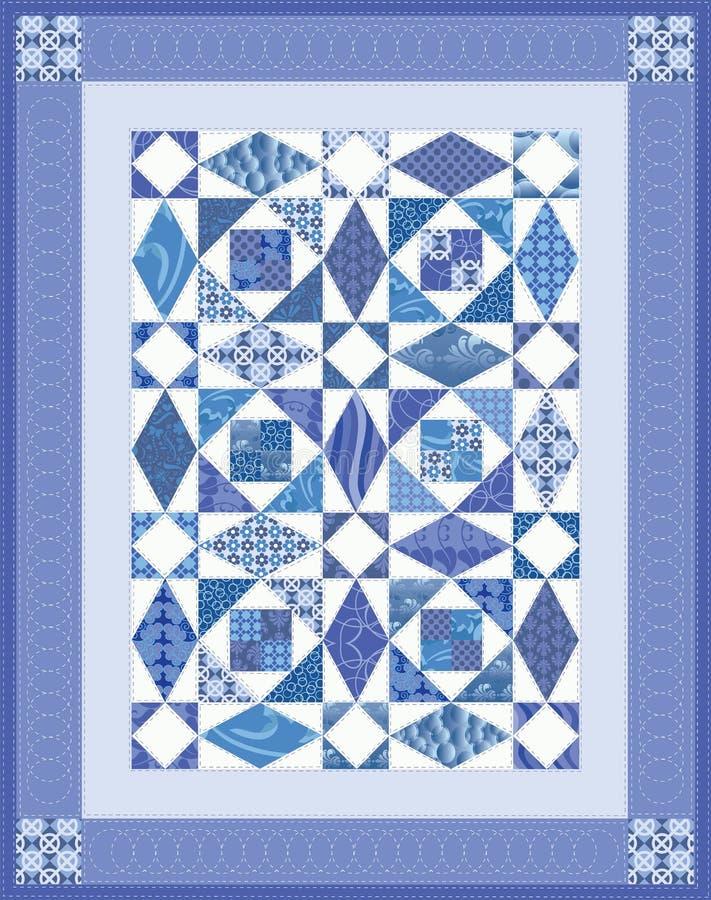 Blauw Dekbed royalty-vrije illustratie