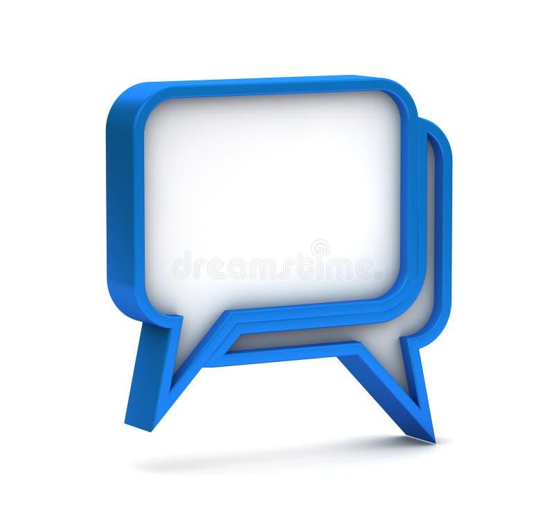 Blauw dialoogpictogram royalty-vrije illustratie