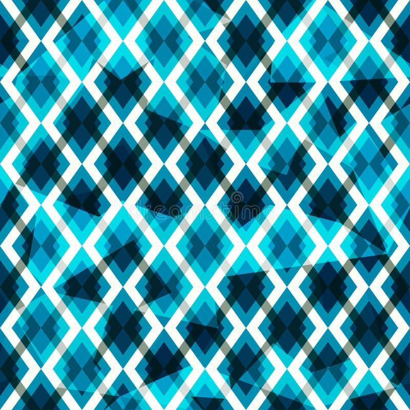 Blauw diamanten naadloos patroon vector illustratie