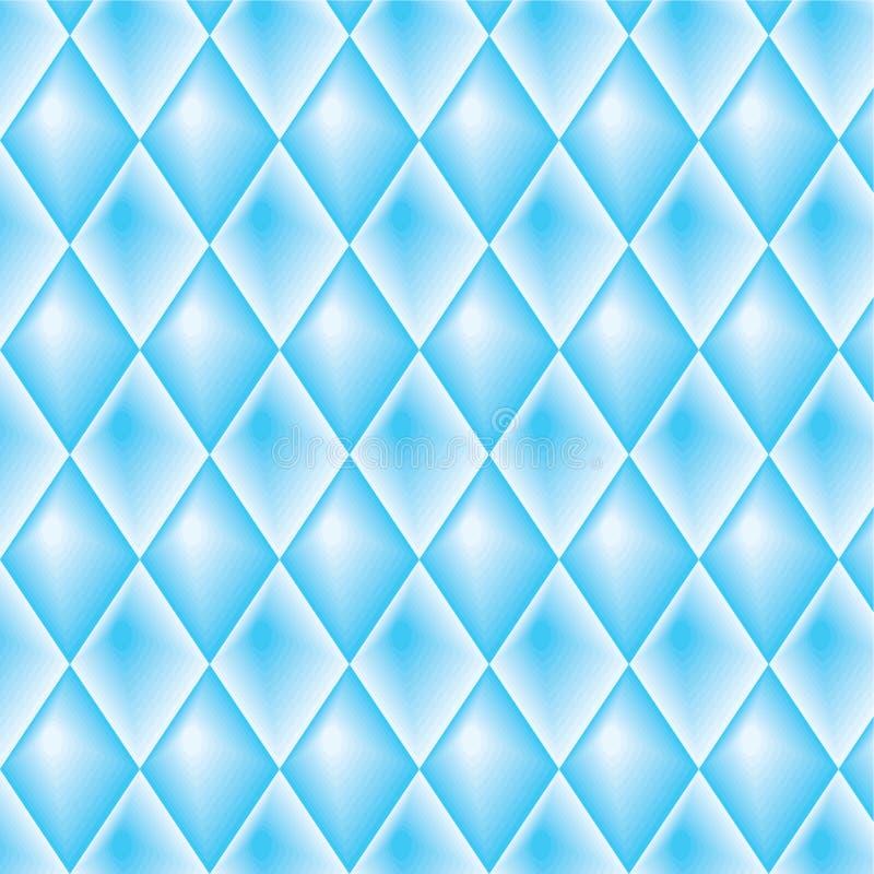 Blauw diamantvormig patroon stock illustratie