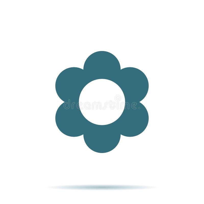 Blauw die Bloempictogram op achtergrond wordt geïsoleerd Modern vlak pictogram In Eenvoudig vectorsymbool voor Web vector illustratie