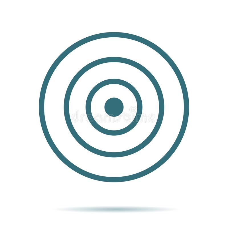 Blauw die Doelpictogram op achtergrond wordt geïsoleerd Modern vlak pictogram, zaken, marketing, Internet concep vector illustratie