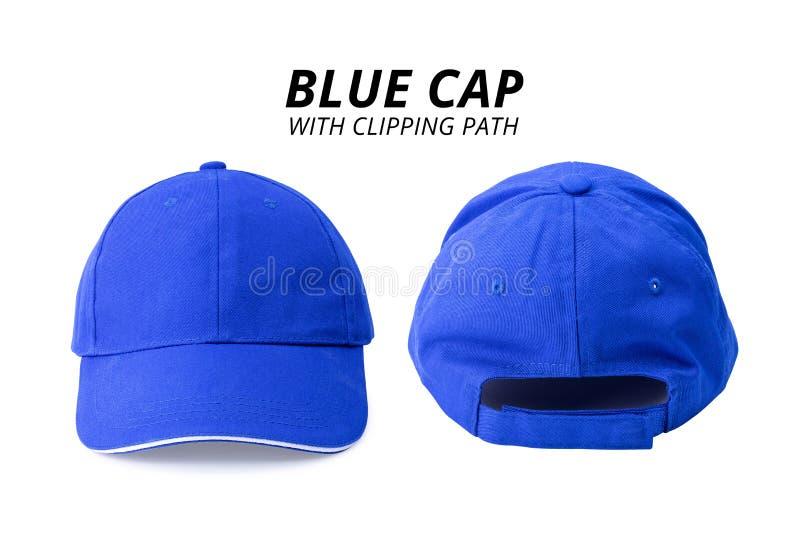 Blauw die GLB op witte achtergrond wordt ge?soleerd Malplaatje van honkbal GLB in voor en achtermening Knippende weg stock afbeeldingen