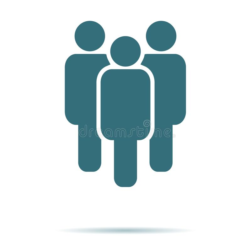 Blauw die Mensenpictogram op achtergrond wordt geïsoleerd Modern vlak pictogram, zaken, marketing, Internet concep stock illustratie