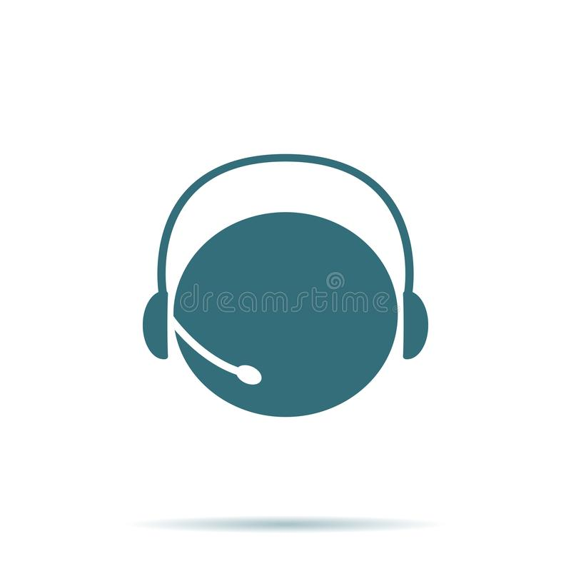 Blauw die Steunpictogram op achtergrond wordt geïsoleerd Modern vlak pictogram, zaken, marketing, Internet-conce royalty-vrije illustratie