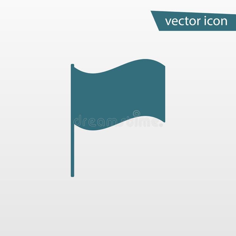 Blauw die Vlagpictogram op achtergrond wordt geïsoleerd Modern eenvoudig vlak teken Zaken, Internet-concept In v royalty-vrije illustratie