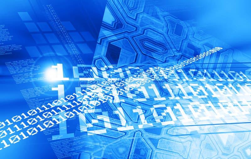 Blauw digitaal ontwerp stock illustratie