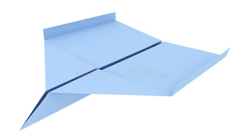 Blauw document 3d vliegtuig (geef terug) royalty-vrije illustratie