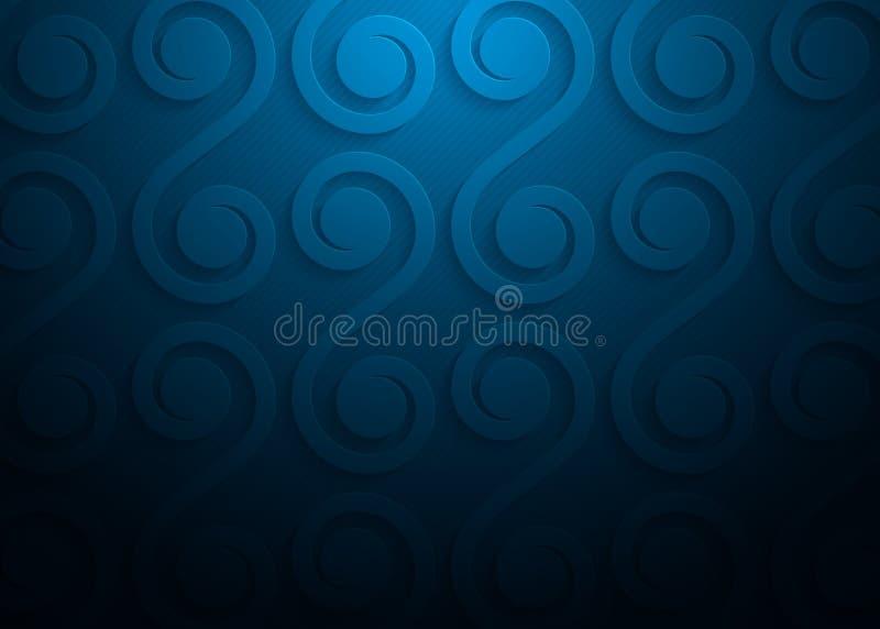 Blauw document geometrisch patroon, abstract malplaatje als achtergrond voor website, banner, adreskaartje, uitnodiging stock illustratie