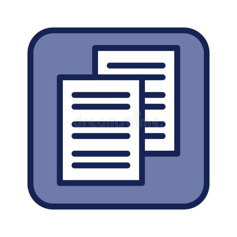 Blauw document vlak pictogram voor Webontwerp royalty-vrije stock fotografie