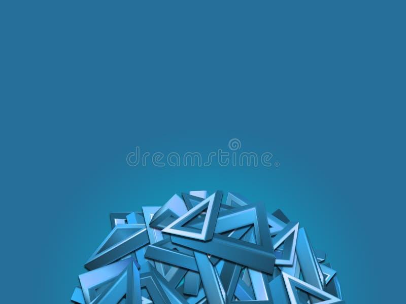 Blauw driehoeks semi cirkelontwerp vector illustratie