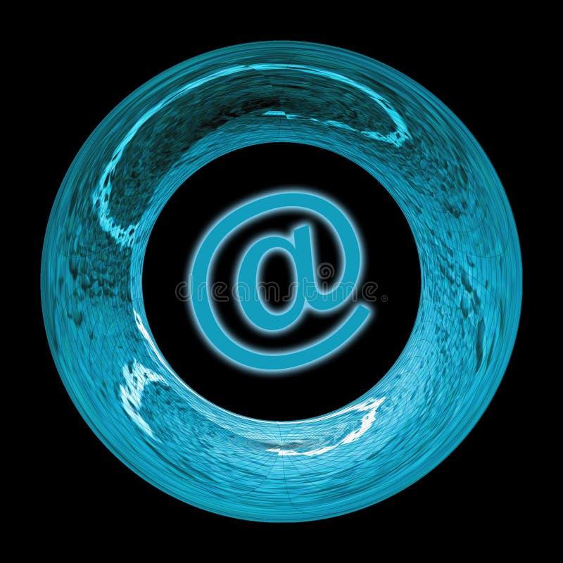 Blauw e-mailteken royalty-vrije illustratie