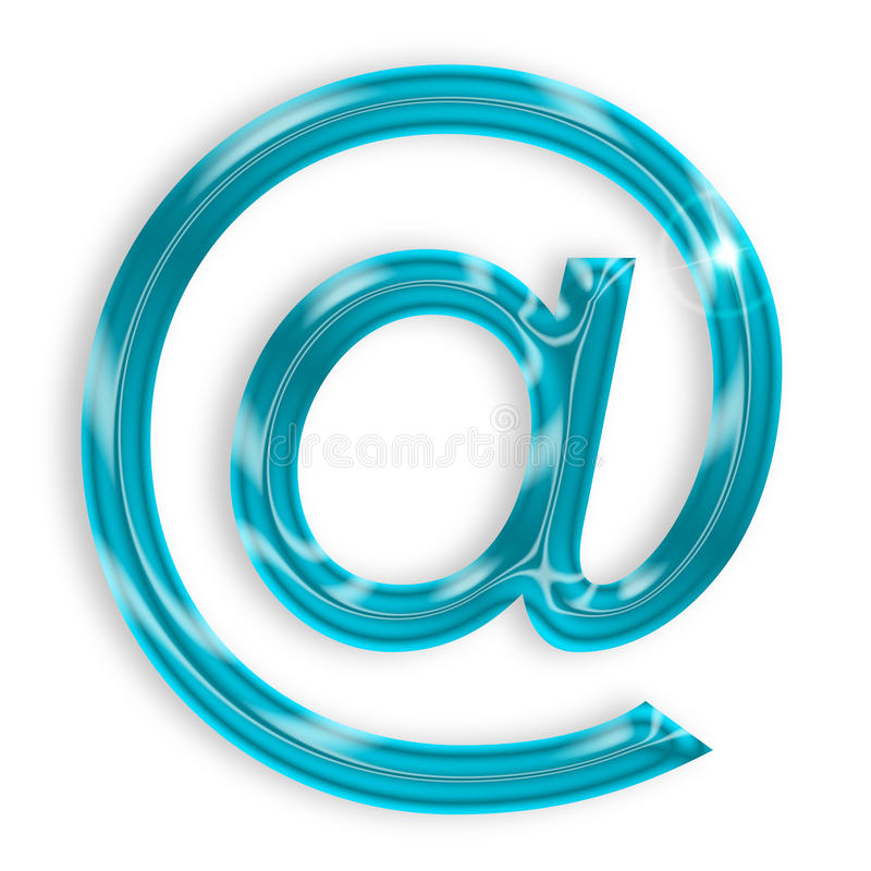 Blauw e-mailteken stock illustratie