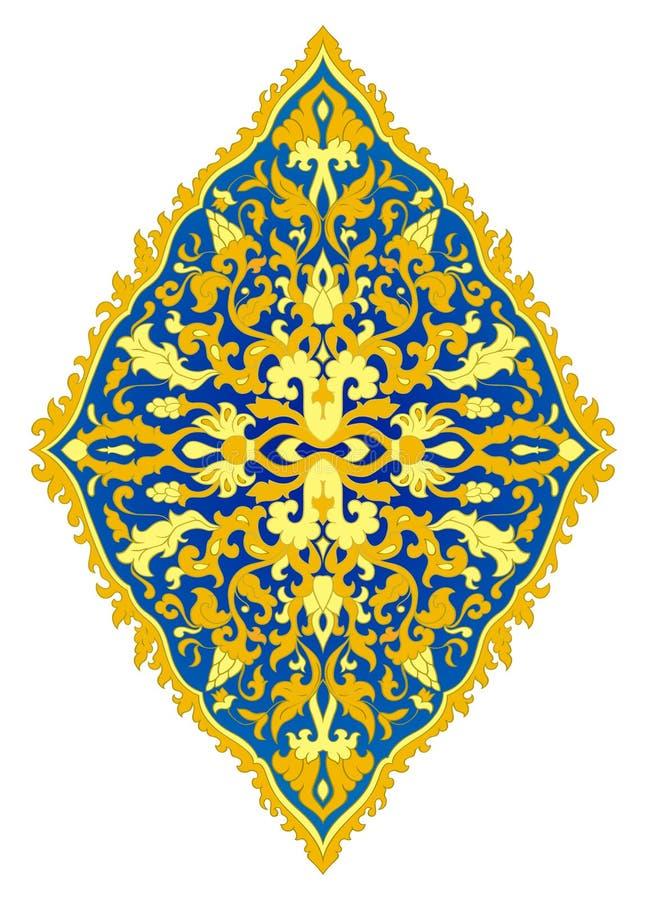 Blauw en geel medaillon vector illustratie