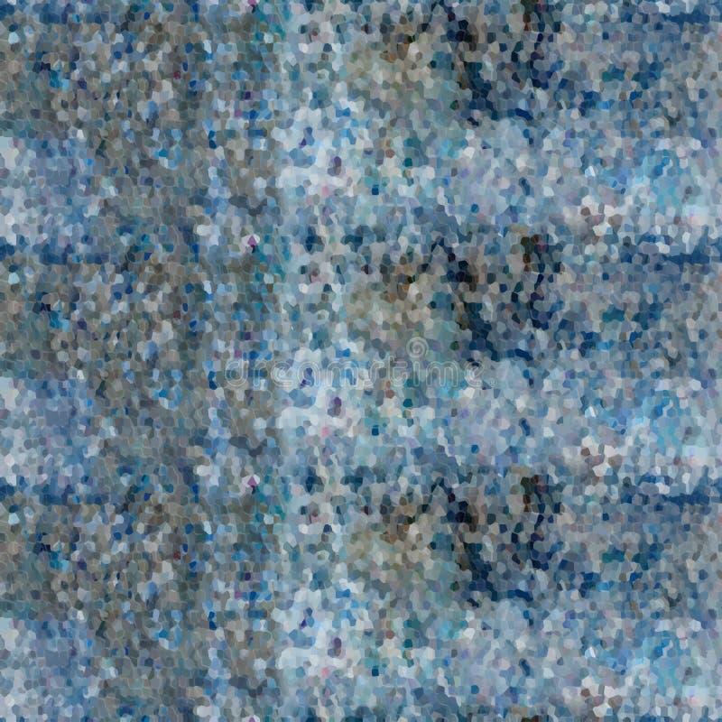 Blauw en grijs Mozaïek stock fotografie