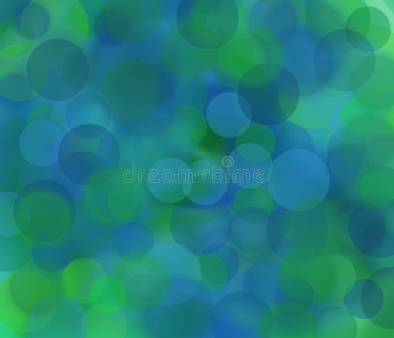Blauw en groen onduidelijk beeld royalty-vrije stock foto