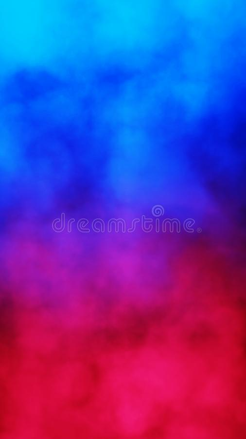 Blauw en rood abstract rookwolk patroon royalty-vrije illustratie