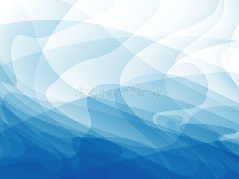 Blauw en wit modern abstract fractal art. Heldere illustratie als achtergrond met een chaotisch patroon Creatief grafisch vrij ma stock illustratie