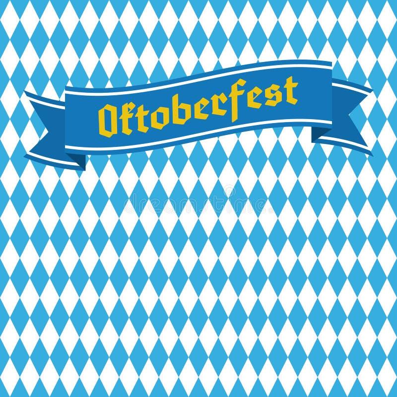 Blauw en wit ruit naadloos patroon Het bierfestival van Duitsland stock illustratie