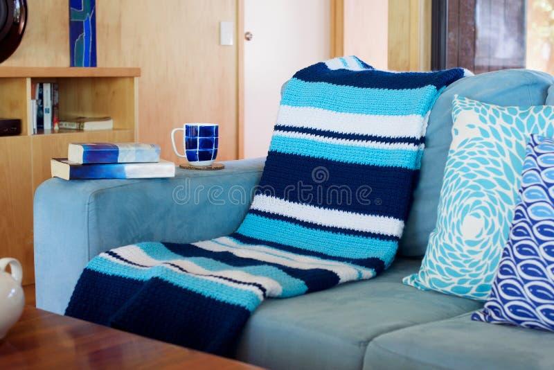 Blauw en wit Strand Deco royalty-vrije stock foto's