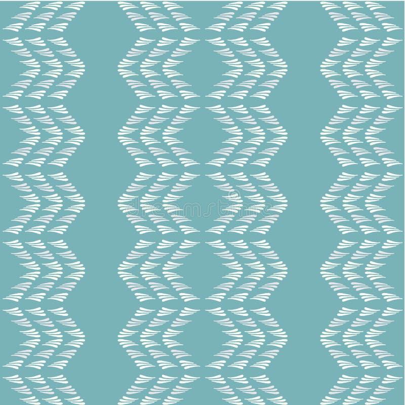 Blauw en wit vector abstract geometrisch naadloos patroon Moderne modieuze hand getrokken textuur van chevronvormen binnen royalty-vrije illustratie