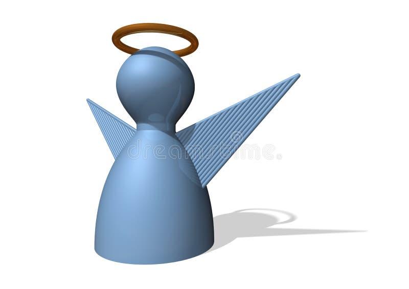 Blauw engelencijfer stock afbeelding