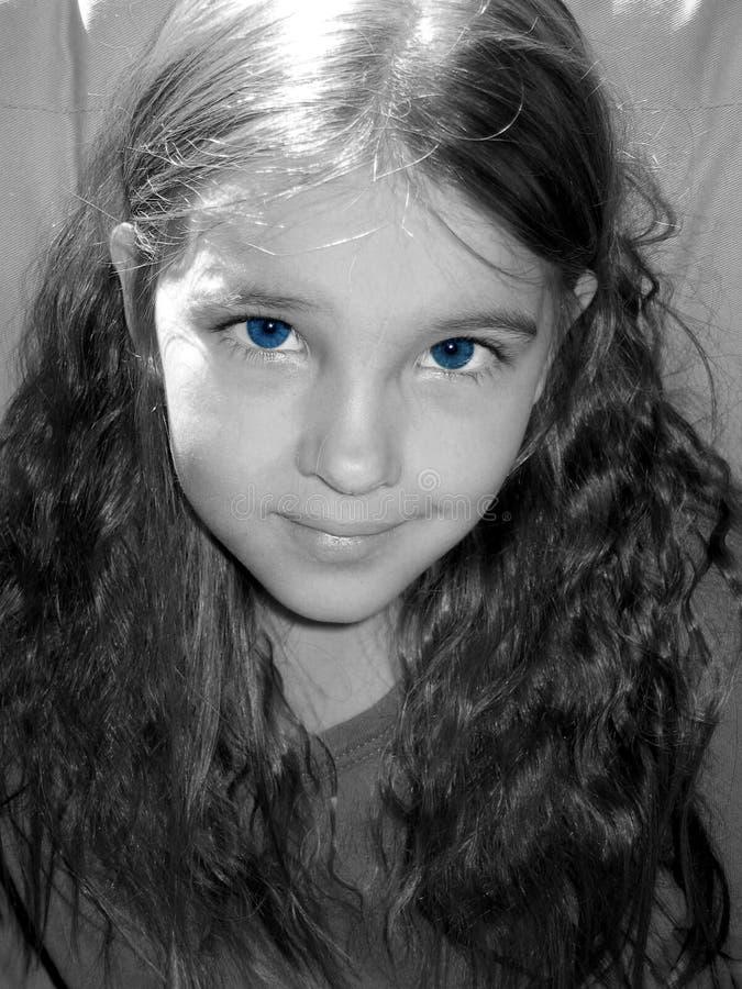 Blauw-eyed meisje. stock afbeelding
