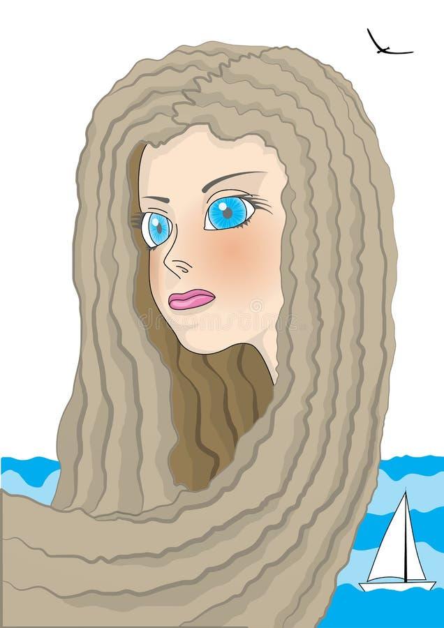 Blauw-eyed meisje royalty-vrije stock foto
