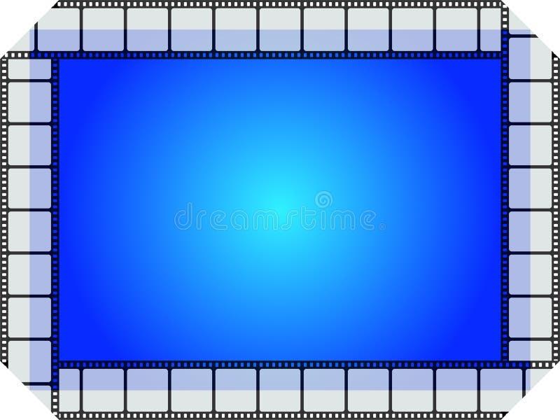 Blauw filmframe stock illustratie