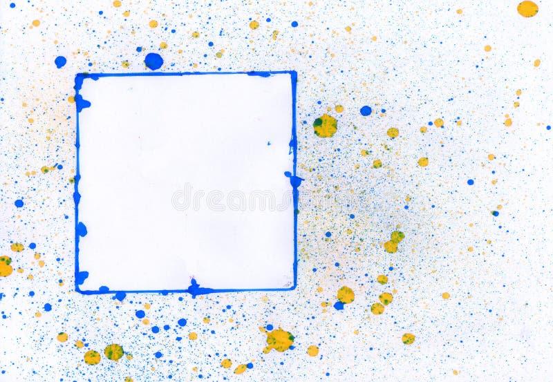 Download Blauw frame stock illustratie. Illustratie bestaande uit splatter - 10778143