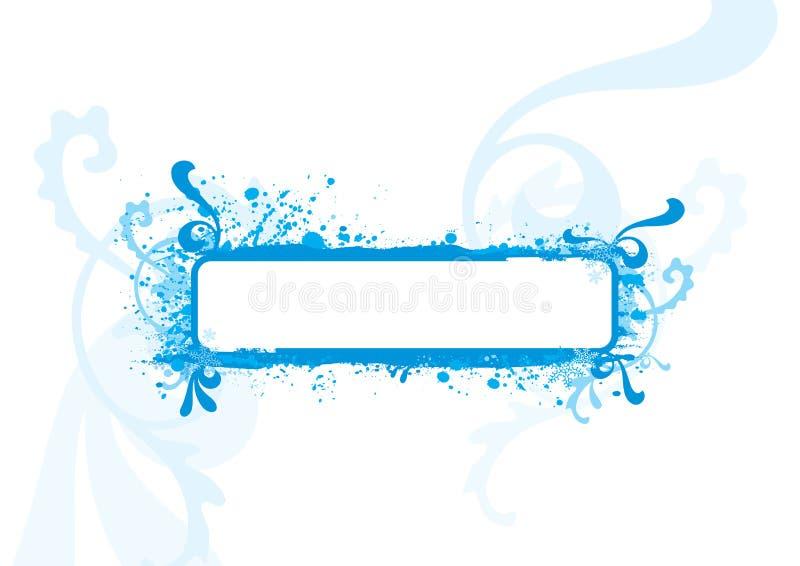 Blauw frame, ontwerpelement royalty-vrije illustratie