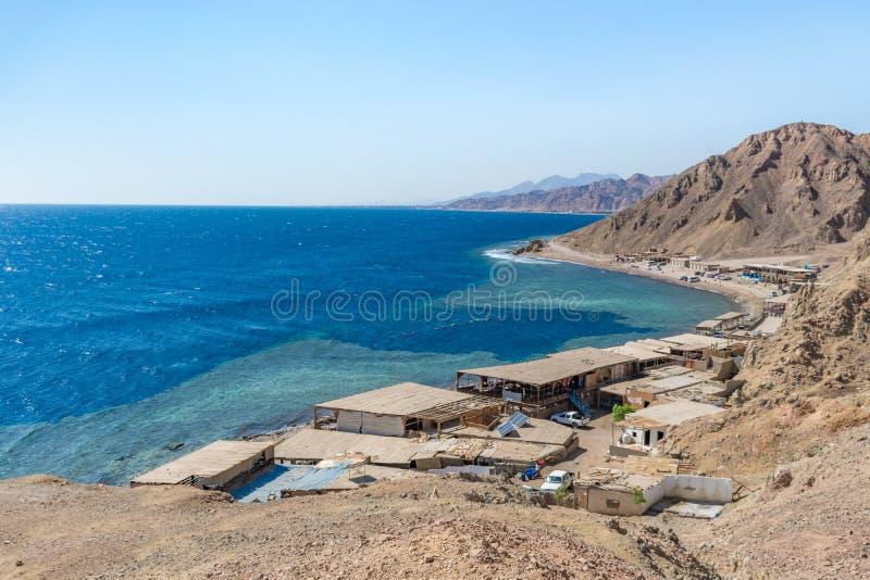 Blauw gat, Dahab, Sinai, Rode Overzees, Egypte royalty-vrije stock afbeelding