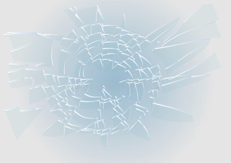 Blauw Gebroken Glas vector illustratie