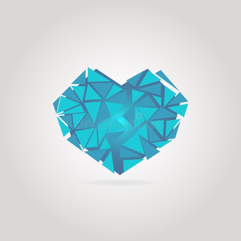 Blauw gebroken hart stock afbeeldingen