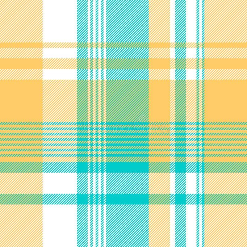 Blauw geel licht het tafelkleed naadloos patroon van de kleurencontrole stock illustratie
