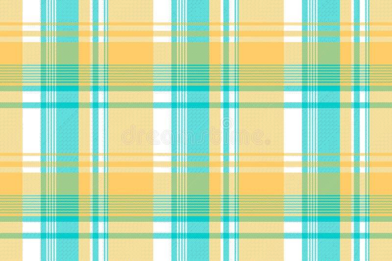 Blauw geel licht het tafelkleed naadloos patroon van de kleurencontrole vector illustratie