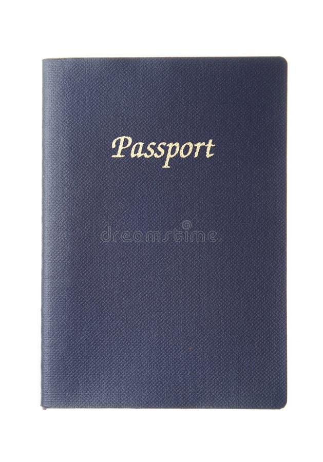 Blauw generisch paspoort stock foto