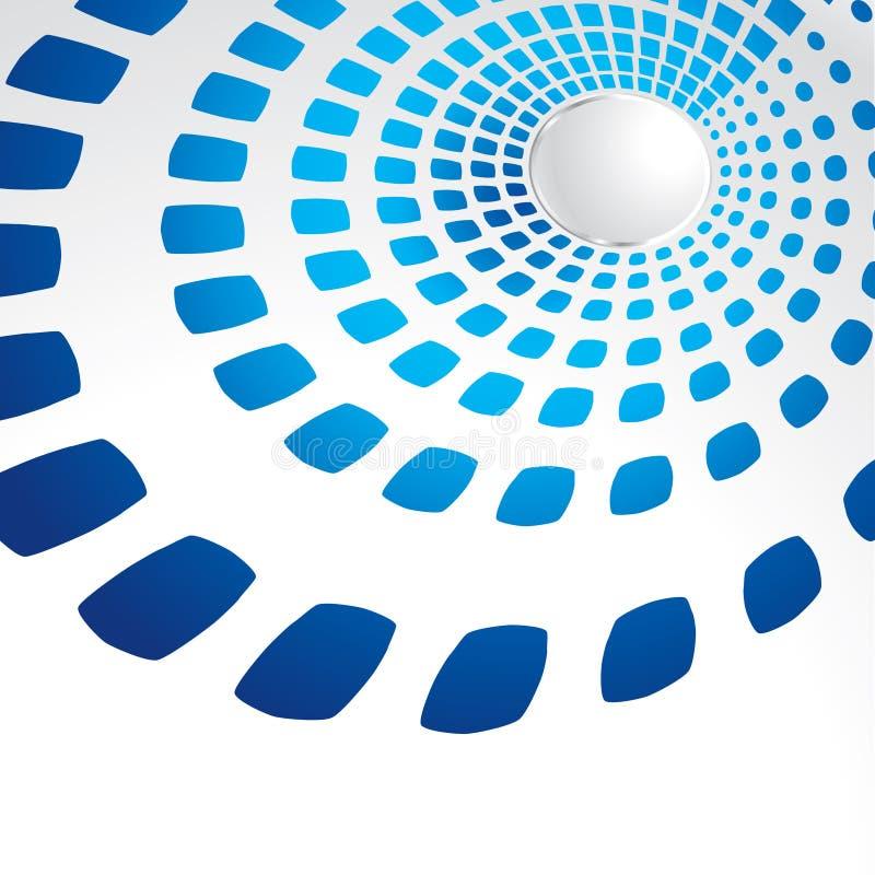 Blauw geometrisch malplaatje stock illustratie
