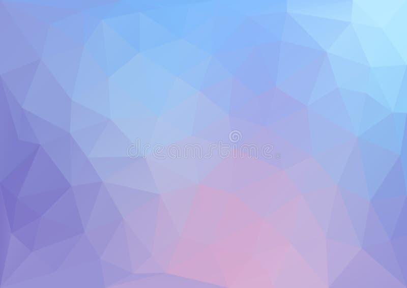Blauw geometrisch Patroon royalty-vrije illustratie