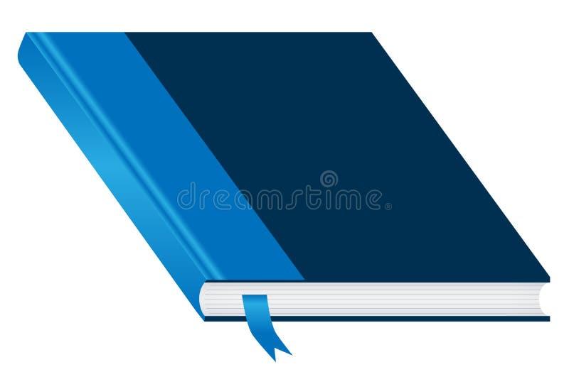 Blauw gesloten boek en referentie royalty-vrije illustratie