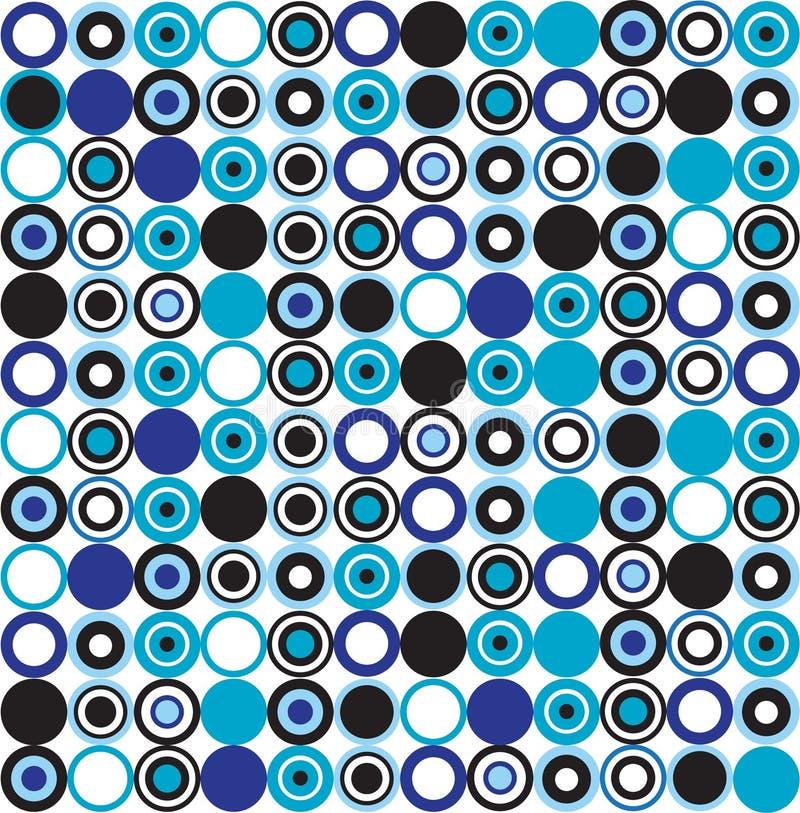 Blauw gestippeld patroon royalty-vrije illustratie