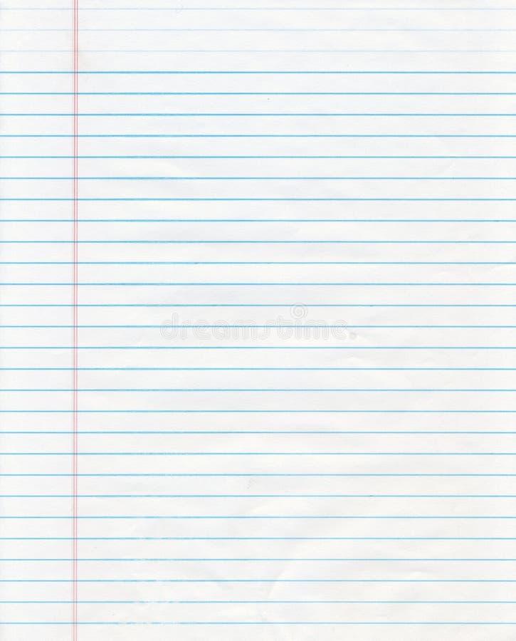 Blauw Gevoerd Document stock afbeelding