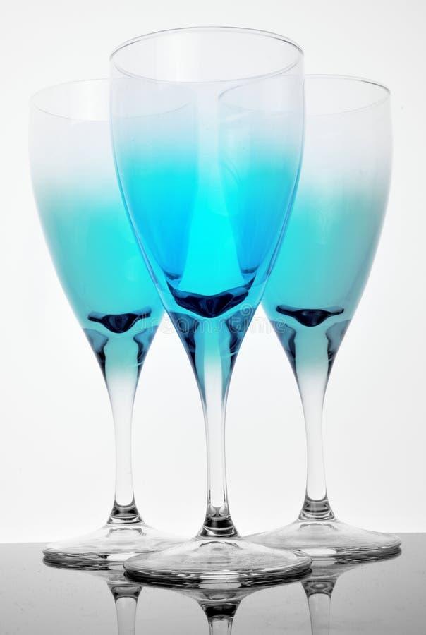 Blauw Glas stock afbeeldingen