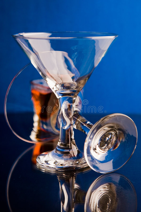 Blauw glas royalty-vrije stock fotografie