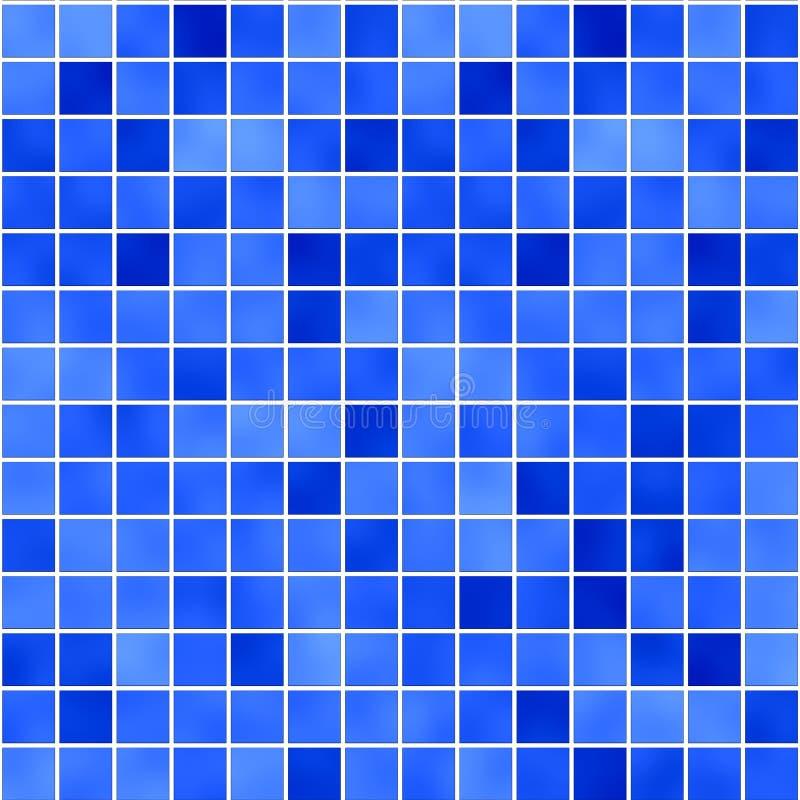 Blauw glazig mozaïek 1 royalty-vrije illustratie