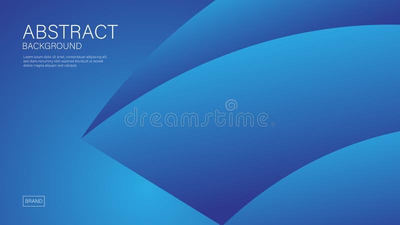 Blauw golf abstract vectormalplaatje als achtergrond, Geometrische grafische, Minimale Textuur, dekkingsontwerp, banner, vliegerb stock illustratie
